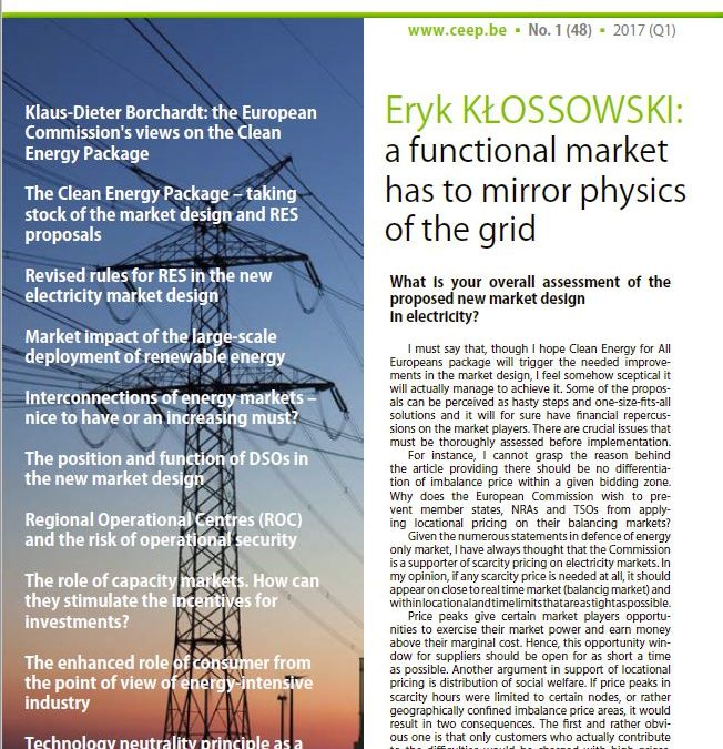 "Central Europe's input on the ""Clean Energy for All Europeans"" package"