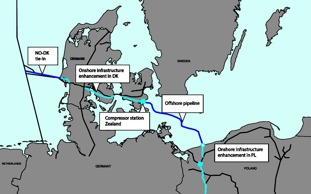 The Baltic Pipe: companies can bid for capacity