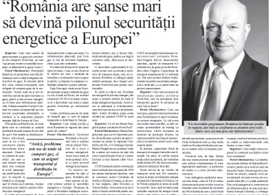 Pawel Olechnowicz: Romania Stands Every Chance of Becoming a Key Pillar of the Europe's Energy Security