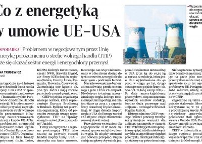 What about the energy sector in the US–EU partnership?