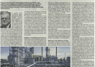 Gazeta Finansowa: What strategy for the chemical industry?
