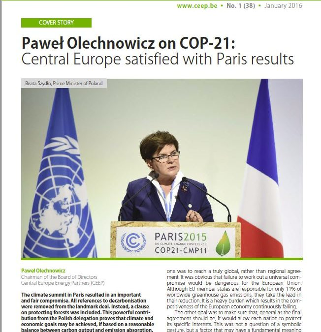Paweł Olechnowicz on COP-21: Central Europe satisfied with Paris results