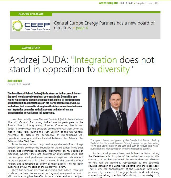 """Andrzej DUDA: """"Integration does not stand in opposition to diversity"""""""