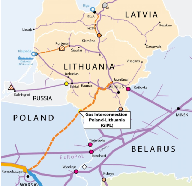 Green light for the strategic gas pipeline between Lithuania and Poland !